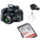 Câmera Canon Sx60 Hs Sx60hs +64gb (classe10) Bolsa + Tripe
