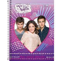 Pronta Entrega! Kit C/ 4 Cadernos Da Violetta Disney Tilibra