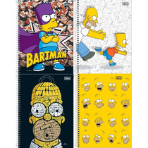 Kit C/ 4 Cadernos The Simpsons 96fls Tilibra 2015 Sortido