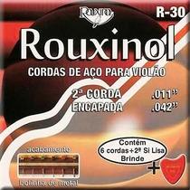 Jogo De Corda Violão Aço Com Bolinha R-30 Rouxinol