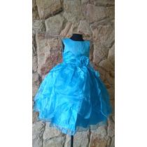 Vestido Infantil Festa Cinderela Elsa Coroa E Varinha Gratis