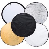 Rebatedor Disco Difusor Refletor 80cm 5x1 Branco Portatil