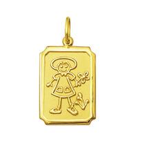 Pingente Filhos Menina Ouro 18k 2,1cm Com Certificado