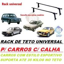 Rack De Teto Universal P/ Carros Com Calha / Estilo Esportiv