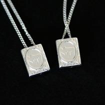 Colar / Cordão Judaico Com Estrela De Davi / Simbolo Chai