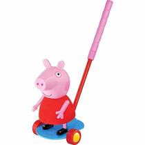 Boneca Peppa De Empurrar Carro Azul Lider Brinquedos