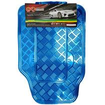 Tapete Automotivo Cromado Azul Carro Universal Jogo