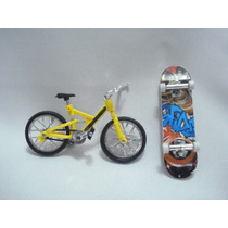 Fingerboard Mini Skate Bicicleta E Ferramentas