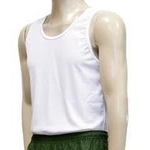 Camisa Camiseta Regata Slim Malhação Dry Fit Branca Fitness
