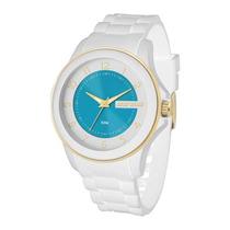 Relógio Feminino Mormaii Mauí Mo2035an/8b - Branco/ Azul