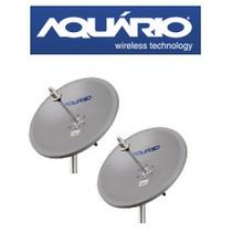 Kit 2 Antenas Miniparabólicas Aquário Mm-5825 5.8 Ghz 25 Dbi