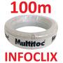 Cabo Alarme 4 Vias 40mm Branco 100m Interfone Cx Multitoc