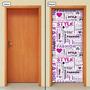 Adesivo Decorativo De Porta - Fashion - Moda - 933mlpt
