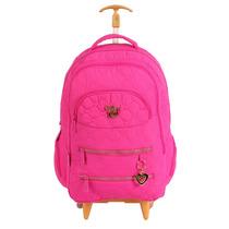 Mochilete Feminina Infanto Juvenil Capricho Love Pink 48598