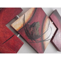 Super Promoção Tela Quadros Decorativos Abstrato Vermelho