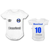 Body Grêmio Time Futebol Personalizado Nenê