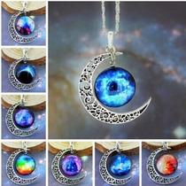 Colar, Maxi Colar Galaxia, Lua, Planetas, Esoterico, Mistico