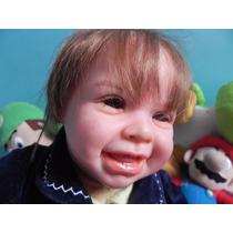 Boneca Bebê Reborn Gabriel Detalhes Realisticos
