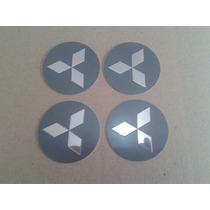 Kit Emblema Auto Relevo 55mm Mitsubishi Grafite