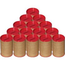 100 Cofrinhos De Papelão 6x10 - Tampa Vermelha Frete Grátis