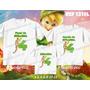 Lembrança De Aniversario Fadas Sininho Kit Camisetas C/ 3
