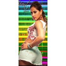 Shorts Feminino Afront Jeans Estilo Pitbull Tamanho 42