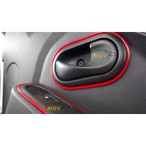 Carro Tuning Fita Friso Decorativo Interior Vermelha 2 Peças