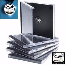 50 Capas Caixinha Cd Box Tradicional Preto - Acrílica