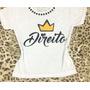Tshirt Camiseta Customizada Com Pedrarias - Direito