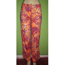 Calça Pantalona Estampa Floral Tamanho M