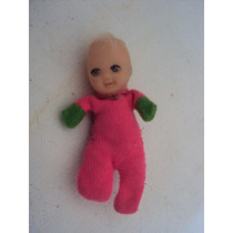 Boneca Antiga Fofolete Rosa E Verde Da Estrela Sem Touca