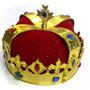 Coroa Rei Príncipe Rainha Dourada Luxo Fantasia Rei Momo