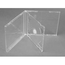 10 Capa Caixinha Acrilica Cd Box Duplo Transparente