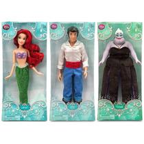 Ariel Eric E Ursula A Pequena Sereia Bonecos Disney Store