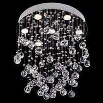 Lustre Pendente Cristal Para 7 Lâmpadas Luminart