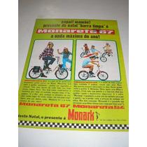 ( L 290/ G ) Propaganda Antiga Bicicleta Monark Monareta 67