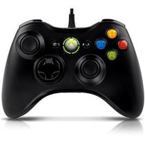 Controle Xbox 360 / Pc Com Fio Black - Original Microsoft