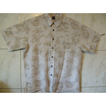 Camisa Basic Edition Estampada Hawaii Lual Xl Eg 88cm X 66cm