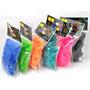 Kit 200 Elásticos Raibow Loom Ultra Resistente P/ Pulseiras