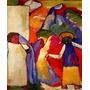 Arte Abstrata Crianças Africanas Pintor Kandinsky Tela Repro