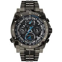 Relógio Bulova 98b229 Precisionist Gunmetal Black Lançamento