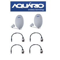 Kit 2 Aquário Mm-5829osdp Disco 5.8ghz 29dbi +4 Cabos 40cm