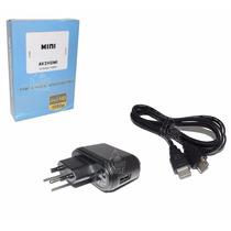 Mini Conversor Adaptador De Video Composto 3rca Av Para Hdmi