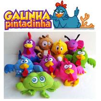 Kit Com 3 Pelúcias Da Turma Da Galinha Pintadinha