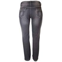 Calça Jeans Preta Feminino Cós Alto Tamanho 56 Ref 1495