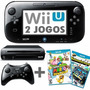 Nintendo Wii U Deluxe 32gb + 2 Jogos + Controle Clássico