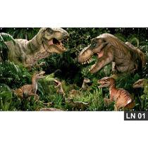 Dinossauro Jurassic Park 3,00x1,70m Lona Banner Aniversário