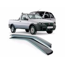 Calha De Chuva Em Abs Para Fiat Strada 2portas