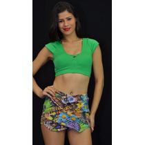 Top C/bojo + Shorts Saia R16974 Atacado Frete Barato