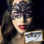 Máscara De Pano Negra Para Fetiche Ou Carnaval - Sex Shop